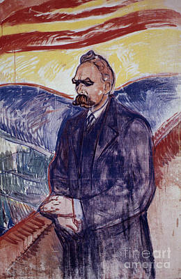 Edward Munch Painting - Friedrich W Nietzsche  by Granger