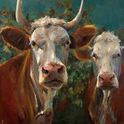 Cow Face Painting - Friends by Cari Humphry