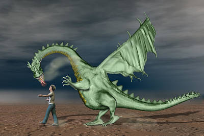 Mythical Creatures Digital Art - Friends by Carol and Mike Werner