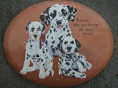 Friends Help Through Rough Spots Art Print