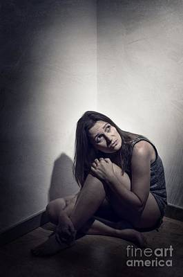 Depressed Photograph - Frightened Woman by Carlos Caetano