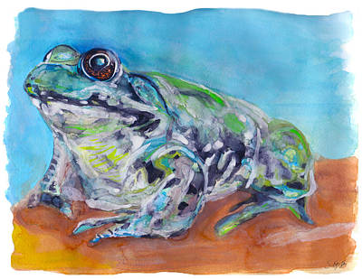 Painting - Frog by Stephanie  Kriza
