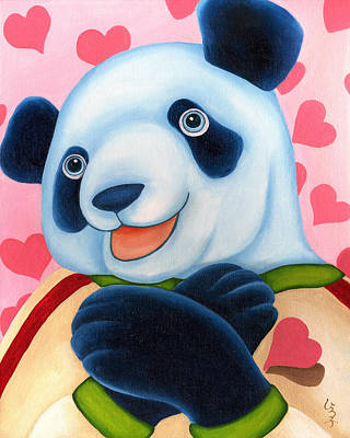 Panda Illustration Painting - From Okin The Panda Illustration 15 by Hiroko Sakai