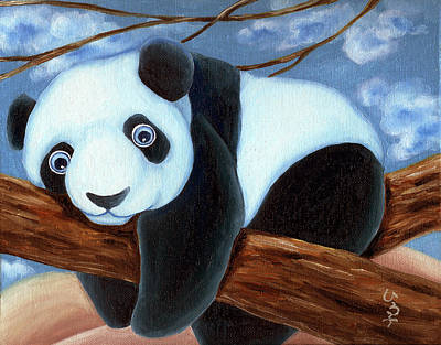 Panda Illustration Painting - From Okin The Panda Illustration 7 by Hiroko Sakai