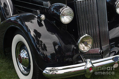Art Print featuring the photograph Front Side Of A Classic Car by Gunter Nezhoda