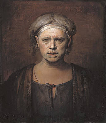 Faces Painting - Frontal by Odd Nerdrum