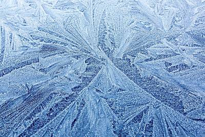 Blue Roof Photograph - Frost Patterns On A Car Roof by Ashley Cooper