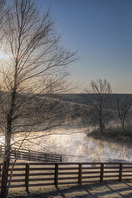 Water Photograph - Frosty Sunrise by Alexey Stiop