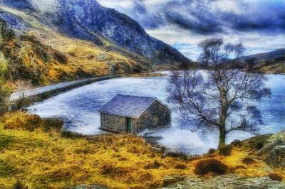 Park Scene Digital Art - Frozen Lake by Ian Mitchell