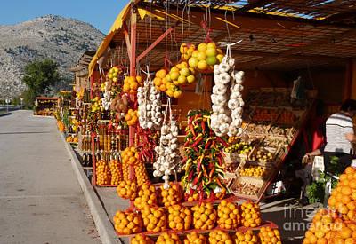 Photograph - Fruit And Veg Stalls - Opuzen - Croatia by Phil Banks