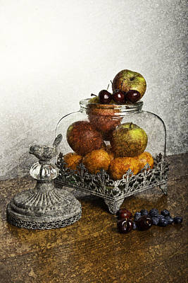 Fruit Still Life Art Print by Lesley Rigg