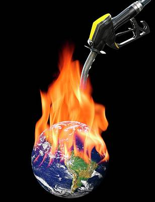 Fuelling Global Warming Art Print by Victor De Schwanberg