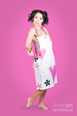Apron Photograph - Full Body Housewife Wearing Apron by Jorgo Photography - Wall Art Gallery