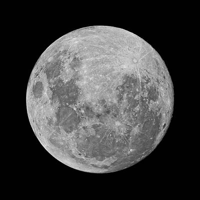 Full Moon Print by Luis Argerich