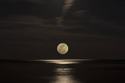 Photograph - Moon Rising Over The Gulf by Gej Jones