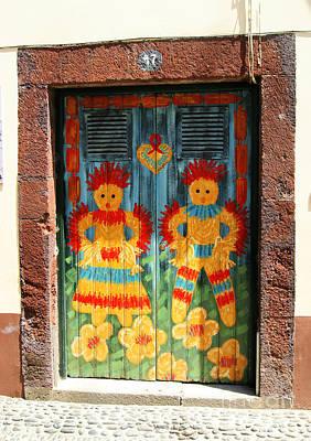 Photograph - Funchal Door Art 3 by David Birchall