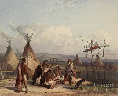 Just Desserts - Funeral scaffold of a Sioux chief by Celestial Images