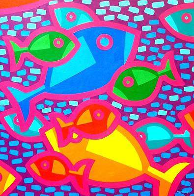 Dot Painting - Funky Fish by John  Nolan
