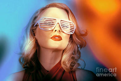 Photograph - Funky Pin-up Fashion Girl In Retro American Style by Jorgo Photography - Wall Art Gallery