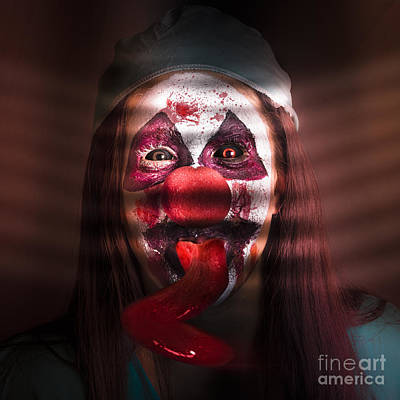 Freaky Photograph - Funny Medical Clown In The Hospital Closet by Jorgo Photography - Wall Art Gallery
