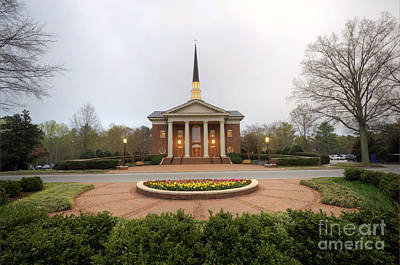Furman University Charles Daniel Chapel   Greenville Sc Art Print