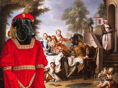 Greyhound Painting - Galgo Espanol - Spanish Greyhound Art Canvas Print by Sandra Sij