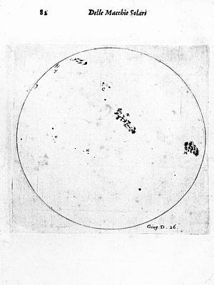 Galileo's Observation Of Sunspots Print by Universal History Archive/uig