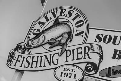 Galveston Fishing Pier Art Print by John McGraw