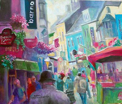 Art Print featuring the painting Galway  Ireland by Paul Weerasekera