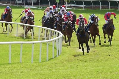 Galway Races Horse Racing Art Print by Patrick Dinneen