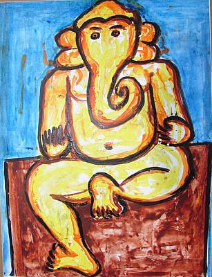 Painting - Ganesha-a4 by Anand Swaroop Manchiraju