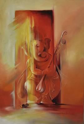Lord Ganesha Painting - Ganesha Pitambara by Durshit Bhaskar