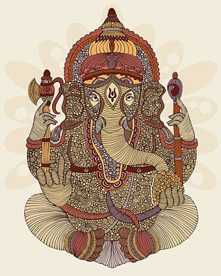 Hindu Gods Photograph - Ganesha by Valentina Ramos