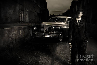 Pinstripes Photograph - Gangster by Diane Diederich