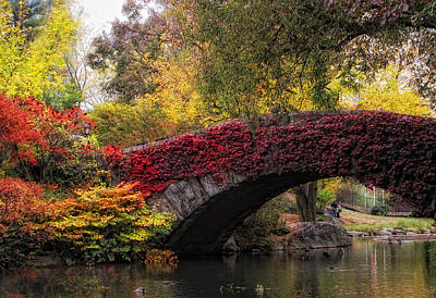 Gapstow Bridge In Autumn Art Print by Jessica Jenney