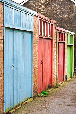 Outhouses Photograph - Garage Doors by Tom Gowanlock