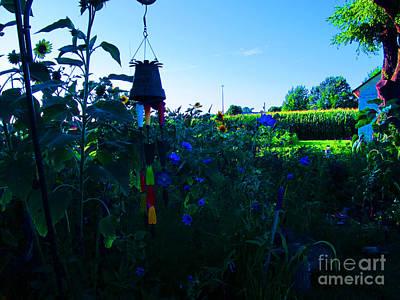 Nirvana - Garden at Dusk by Tina M Wenger