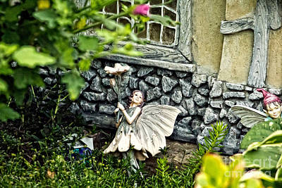 Photograph - Garden Fairy by Ms Judi