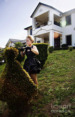 Weeding Photograph - Garden Maid by Jorgo Photography - Wall Art Gallery