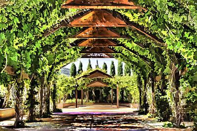 Art Print featuring the painting Garden by Muhie Kanawati