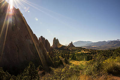 Photograph - Garden Of The Gods At Sunrise - Colorado Springs by Brian Harig