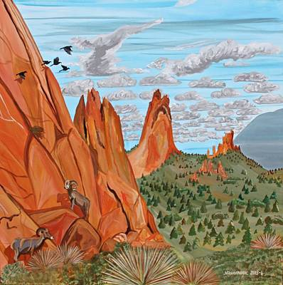 Pinion Painting - Garden Of The Gods by Mike Nahorniak