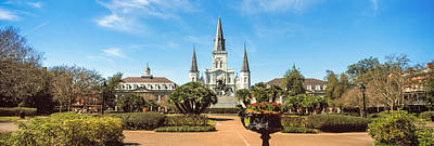 St Louis Square Photograph - Garden Of The St. Louis Cathedral by Panoramic Images