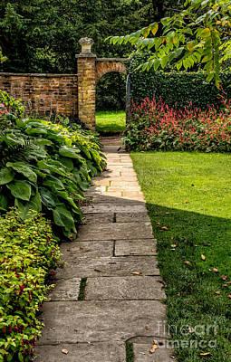 Garden Path Art Print by Adrian Evans