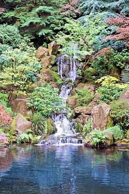 Photograph - Garden Waterfall by Jane Girardot