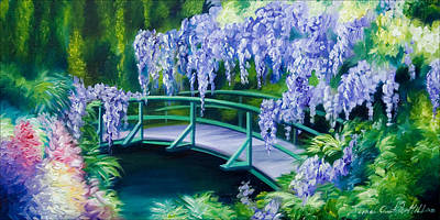 Abstract Realism Painting - Gardens Of Givernia II by James Christopher Hill