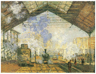 Gare Painting - Gare Saint-lazare by Claude Monet