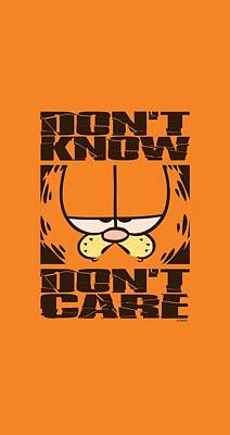 Lazy Digital Art - Garfield - Don't Know Don't Care by Brand A