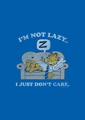 Lazy Digital Art - Garfield - Not Lazy by Brand A