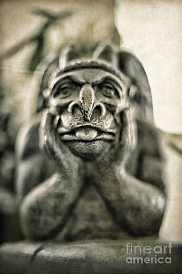 Monster Photograph - Gargoyle by HD Connelly